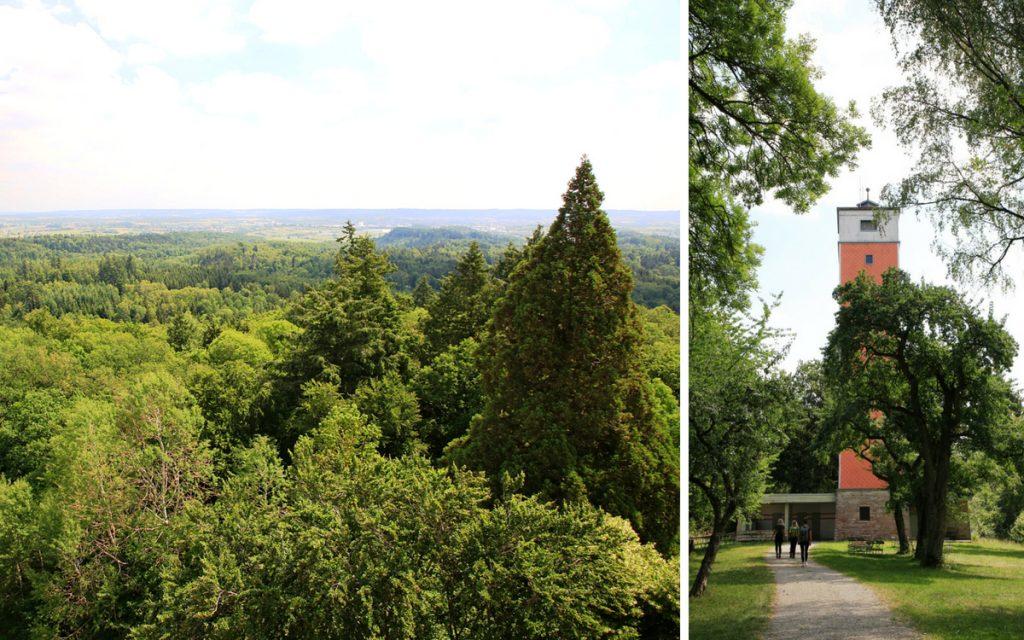 Vom Burgbergturm hat man eine wunderschöne Aussicht