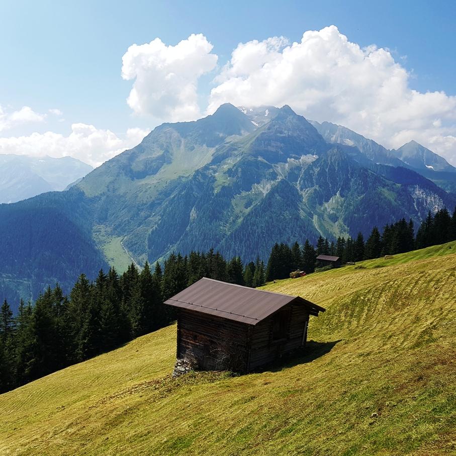 Hütte im Tuxer Tal