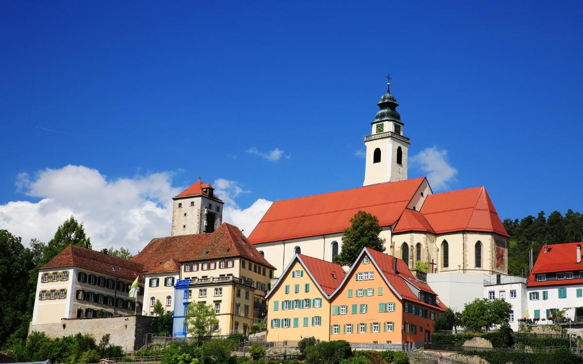 Die Wanderung von Horb nach Rexingen startet im schönen Horb