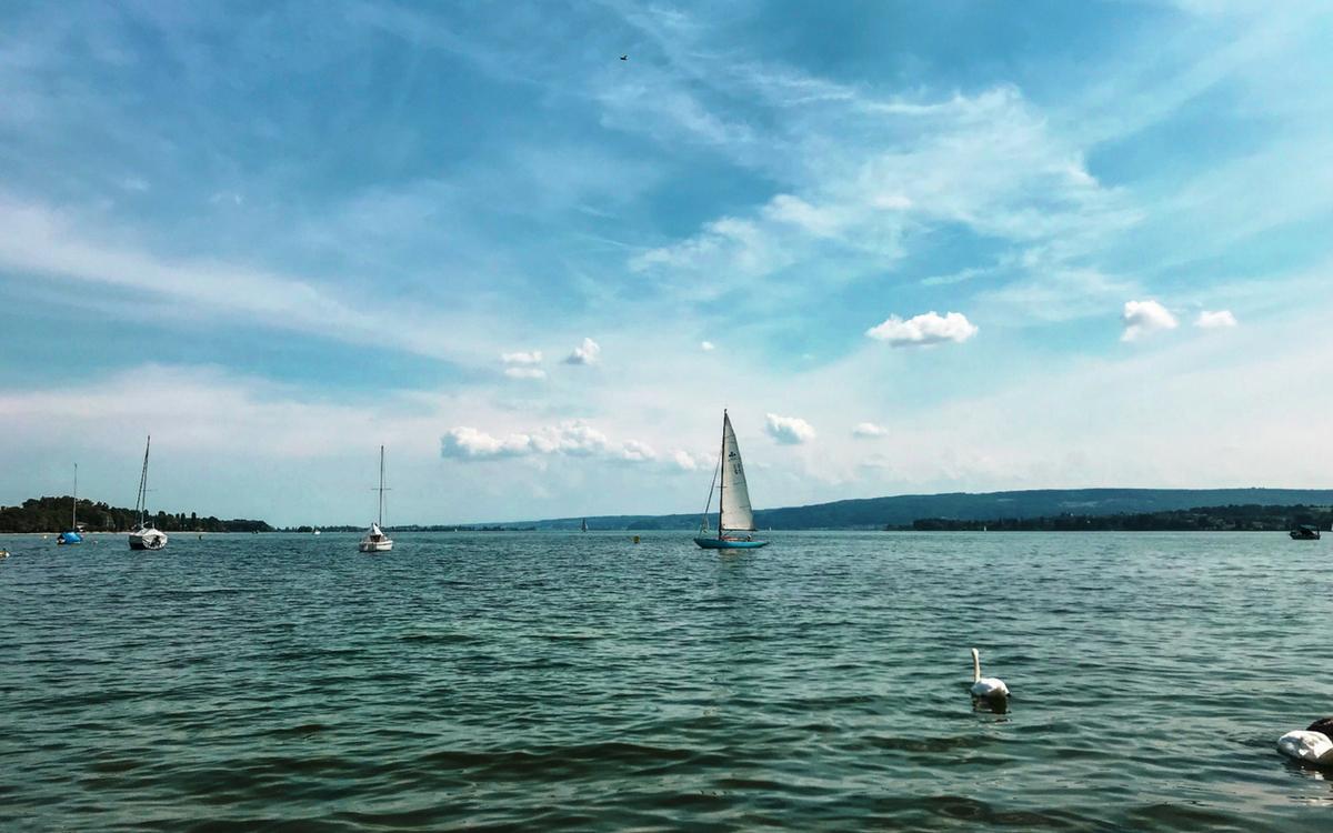 Segelschiff am Bodensee